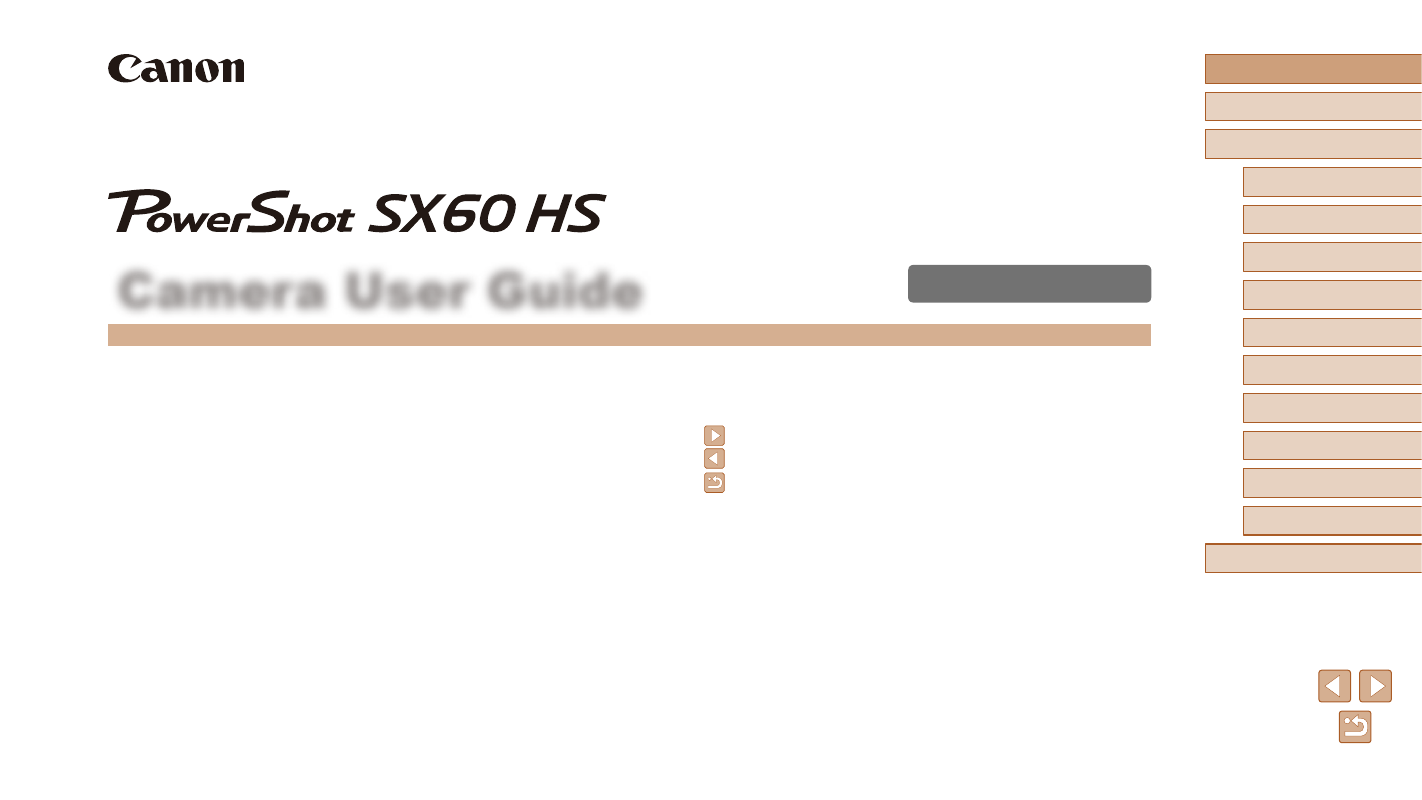 Canon PowerShot SX60 HS User Manual   203 pages   Also for