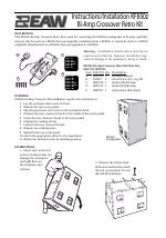 eaw bi amp crossover retro kit kf850z user manual 4 pages rh manualsdir com