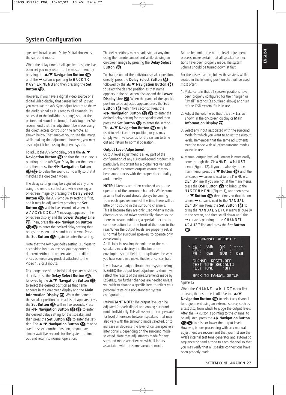 system configuration harman kardon avr 147 user manual page 27 rh manualsdir com harman kardon avr 147 manual pdf Harman Kardon AVR 20 II Specifications
