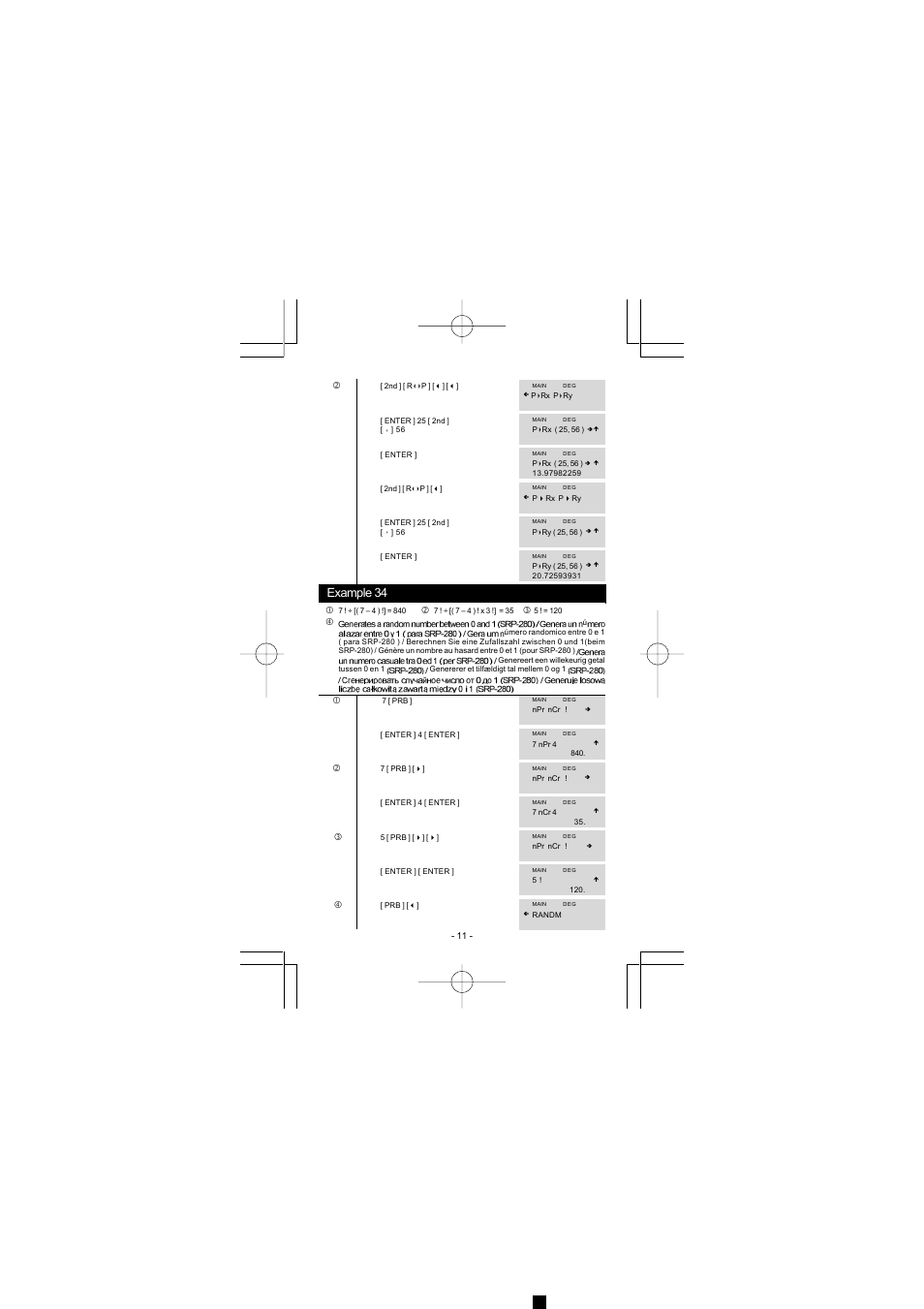 Example 34 | CITIZEN SRP-280 User Manual | Page 191 / 200
