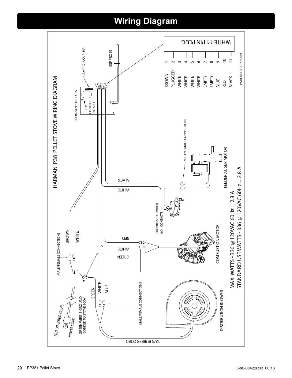 Wiring Diagram  White 11 Pin Plug  Harm An P38 Pelle T St