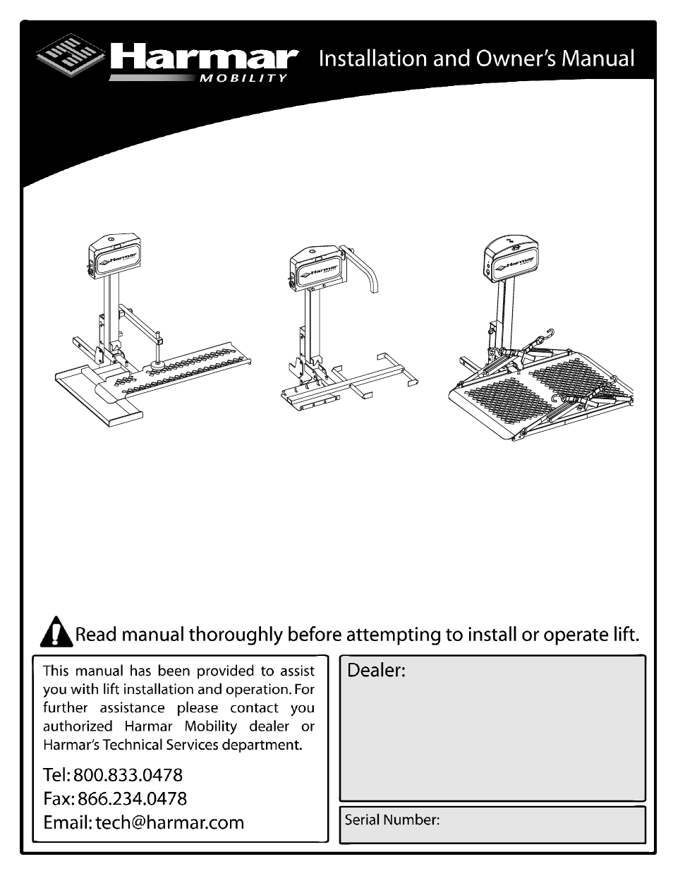 Harmar Mobility AL010 User Manual   20 pages   Also for: LiftAL030 on