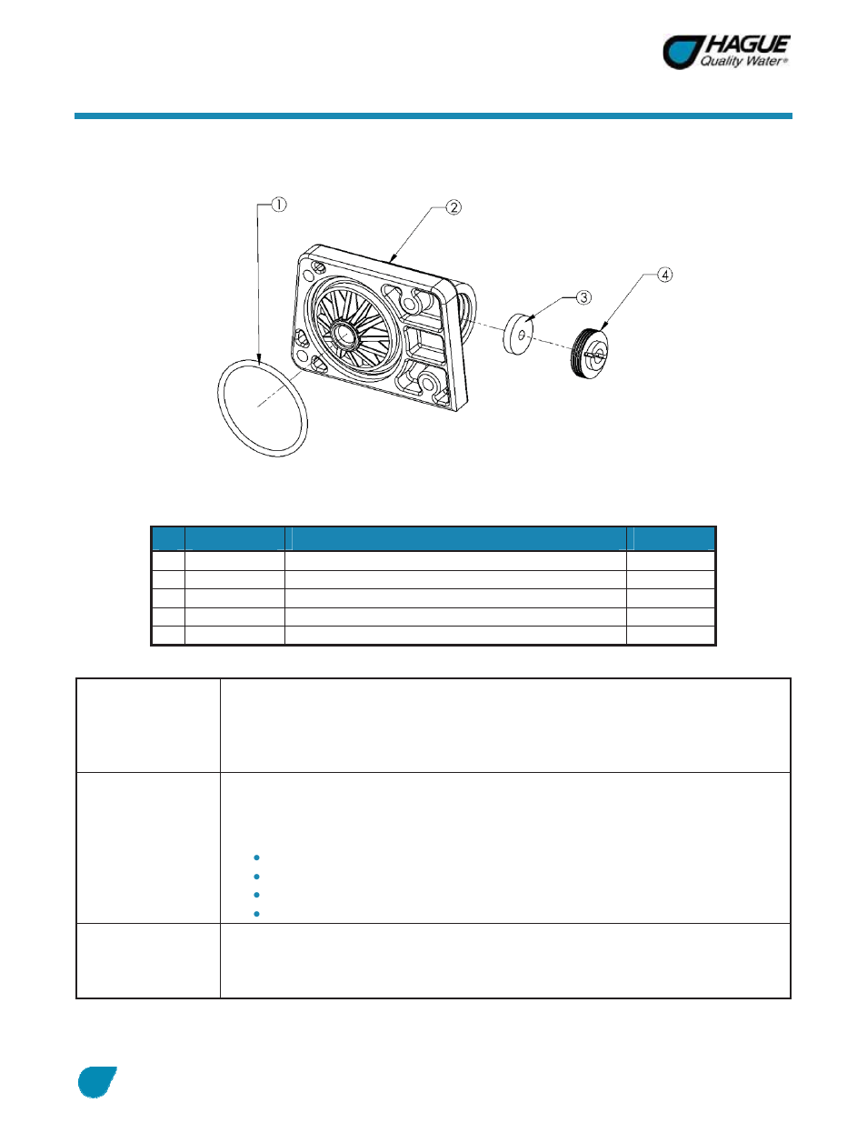 Assembly And Parts Cont Drain End Cap Assembly Manual Guide