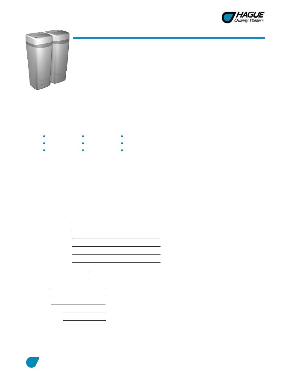 Hague Quality Water Intl Watermax 60 Series User Manual Manual Guide