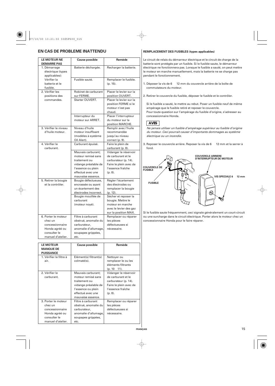 honda gx390 user manual page 35 60. Black Bedroom Furniture Sets. Home Design Ideas