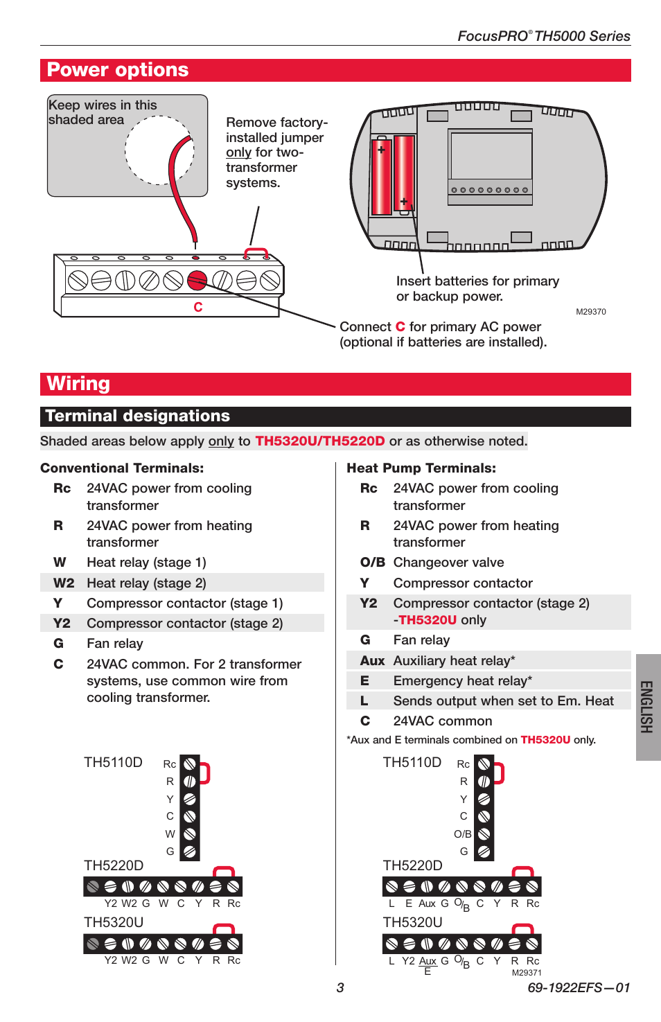 Honeywell Thermostat User Manual Troubleshooting Wiring
