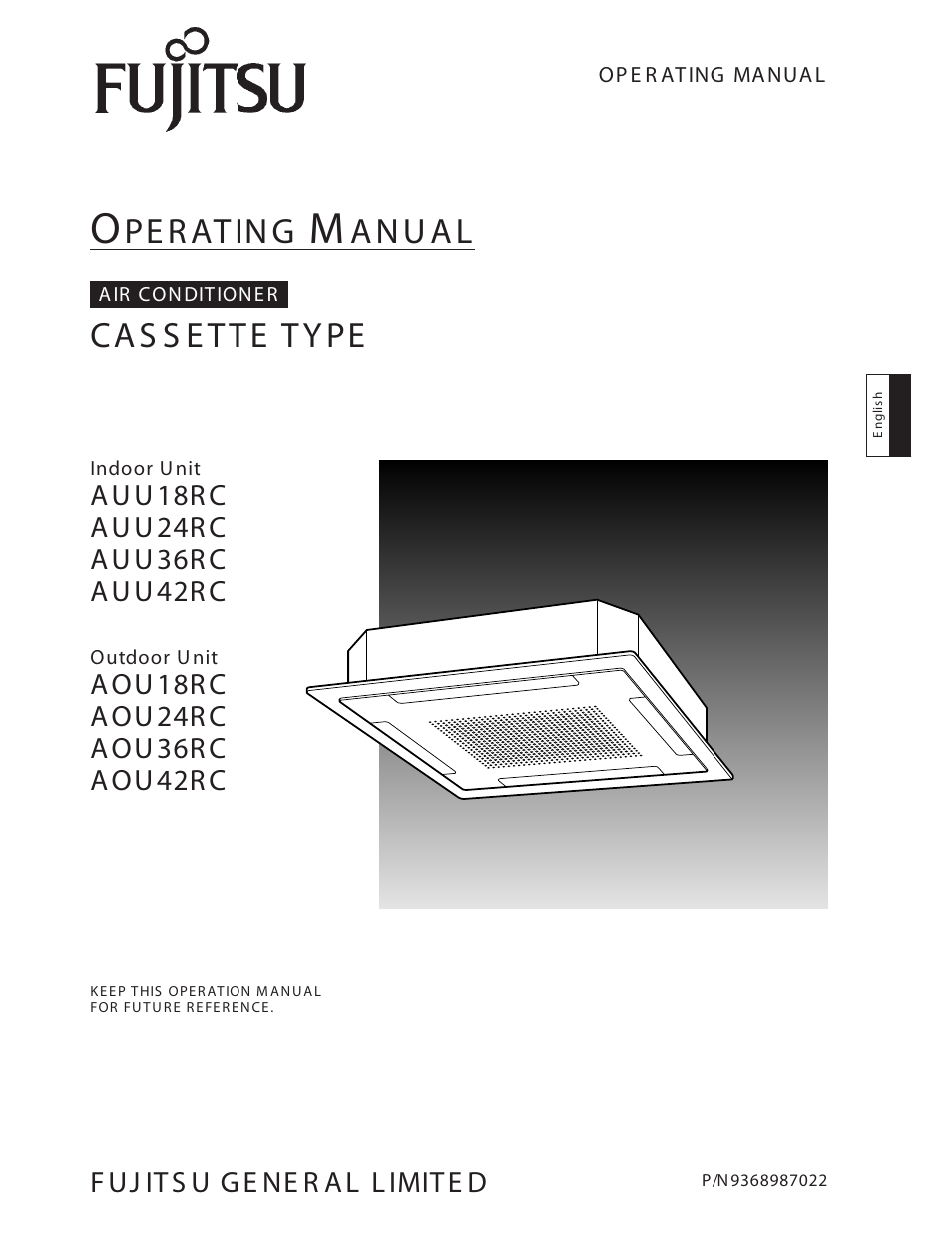 FUJITSU AOU36RC User Manual | 19 pages | Also for: AOU42RC, AUU36RC,  AOU18RC, AUU18RC, AUU42RC, AUU24RC, AOU24RC