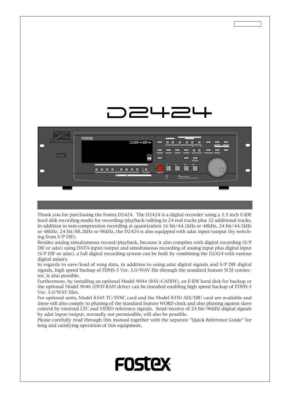 fostex d2424 user manual 147 pages rh manualsdir com Fostex Coil Microphone Fostex Headphones