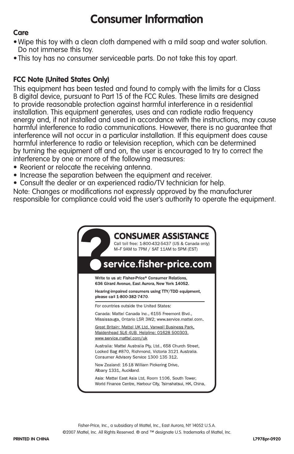 Fisher Price User Manual Free User Guide
