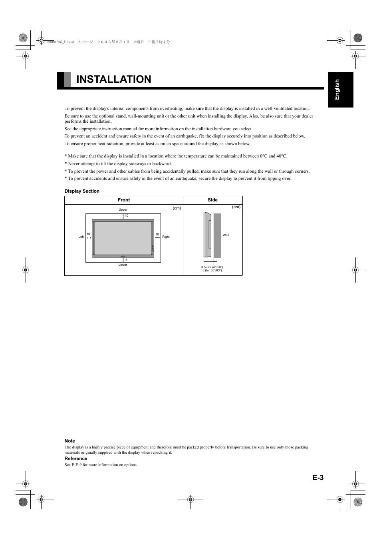 fujitsu plasmavision p50xha10us user manual