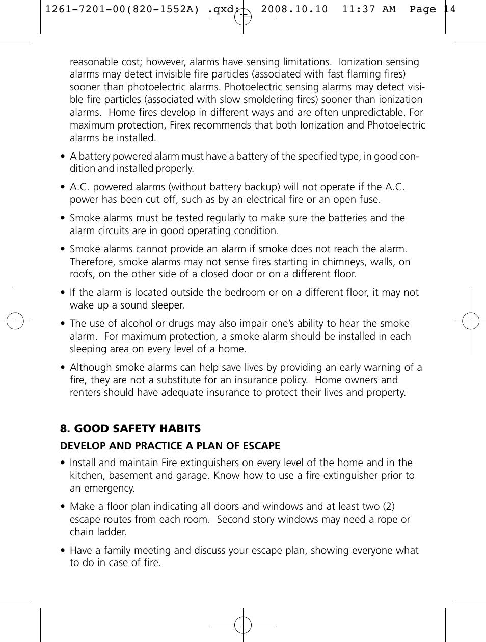 Firex Smoke Alarm i4618 User Manual | Page 14 / 18