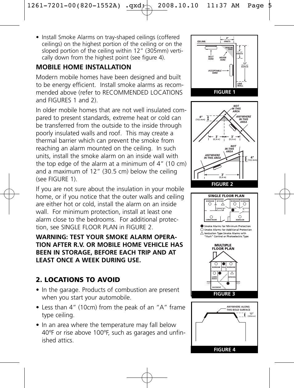 Firex Smoke Alarm Instruction Manual Wiring Diagram On Kidde Mobile Home Installation Locations To Avoid I User Page 954x1259