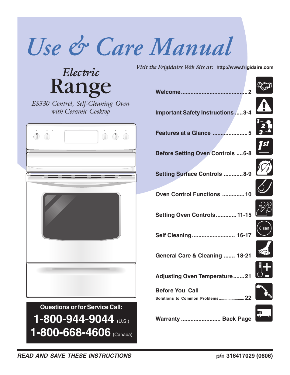 frigidaire es330 user manual 24 pages also for 316417029 rh manualsdir com Frigidaire Self-Cleaning Oven Manual Instruction Manual for Frigidaire Oven