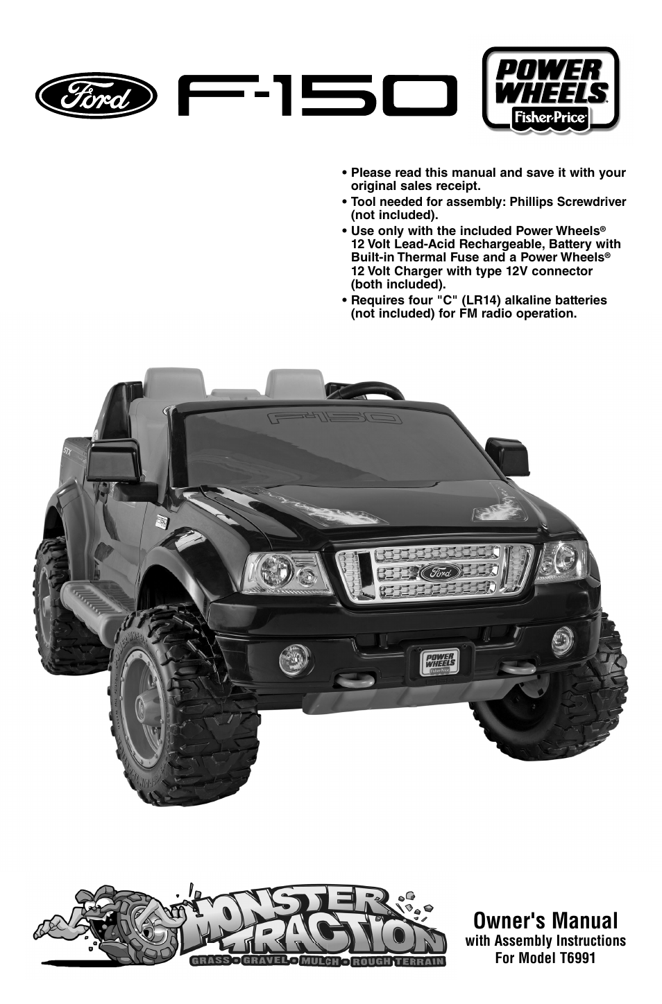 fisher price power wheels ford f 150 t6991 user manual 28 Power Wheels Ford F 150 Schematic power wheels ford f 150 schematic