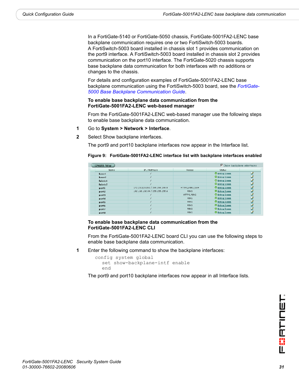 Fortinet FortiGate 5001FA2-LENC User Manual | Page 31 / 34