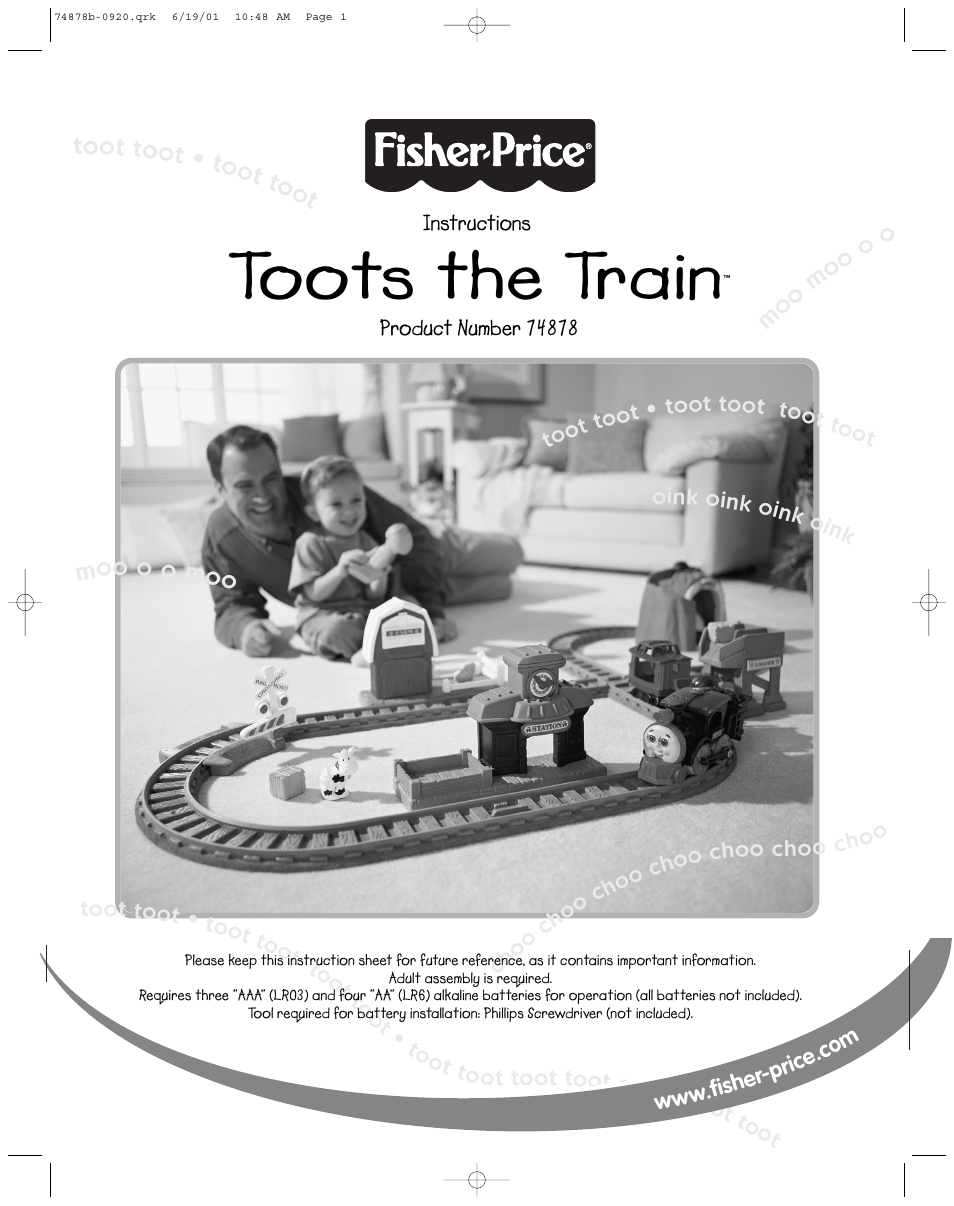 fisher price instruction manuals