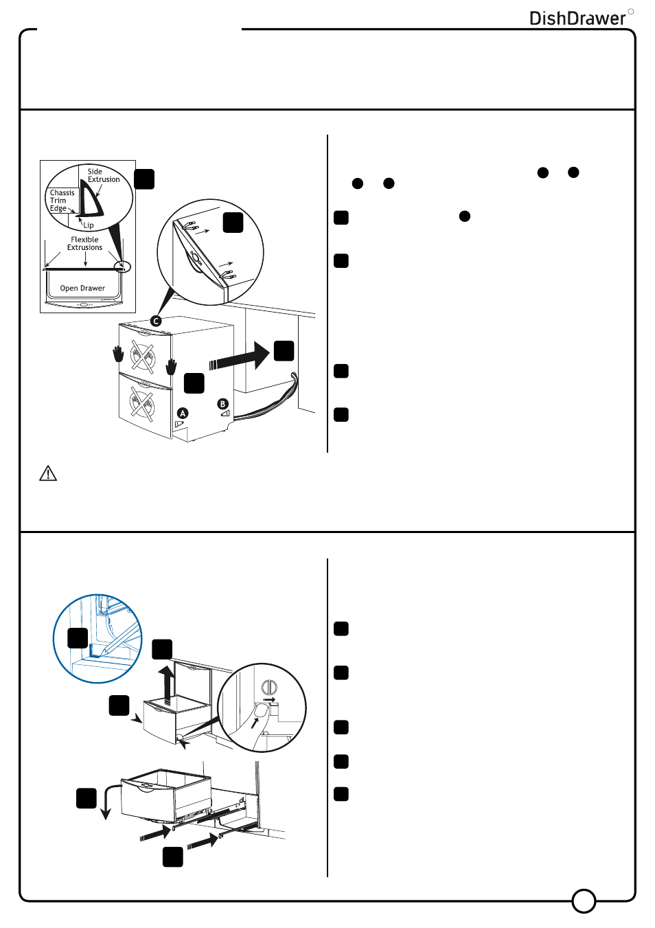 Step 1, Step 2, Installation instructions | Fisher & Paykel V3 DS603 User  Manual | Page 7 / 12