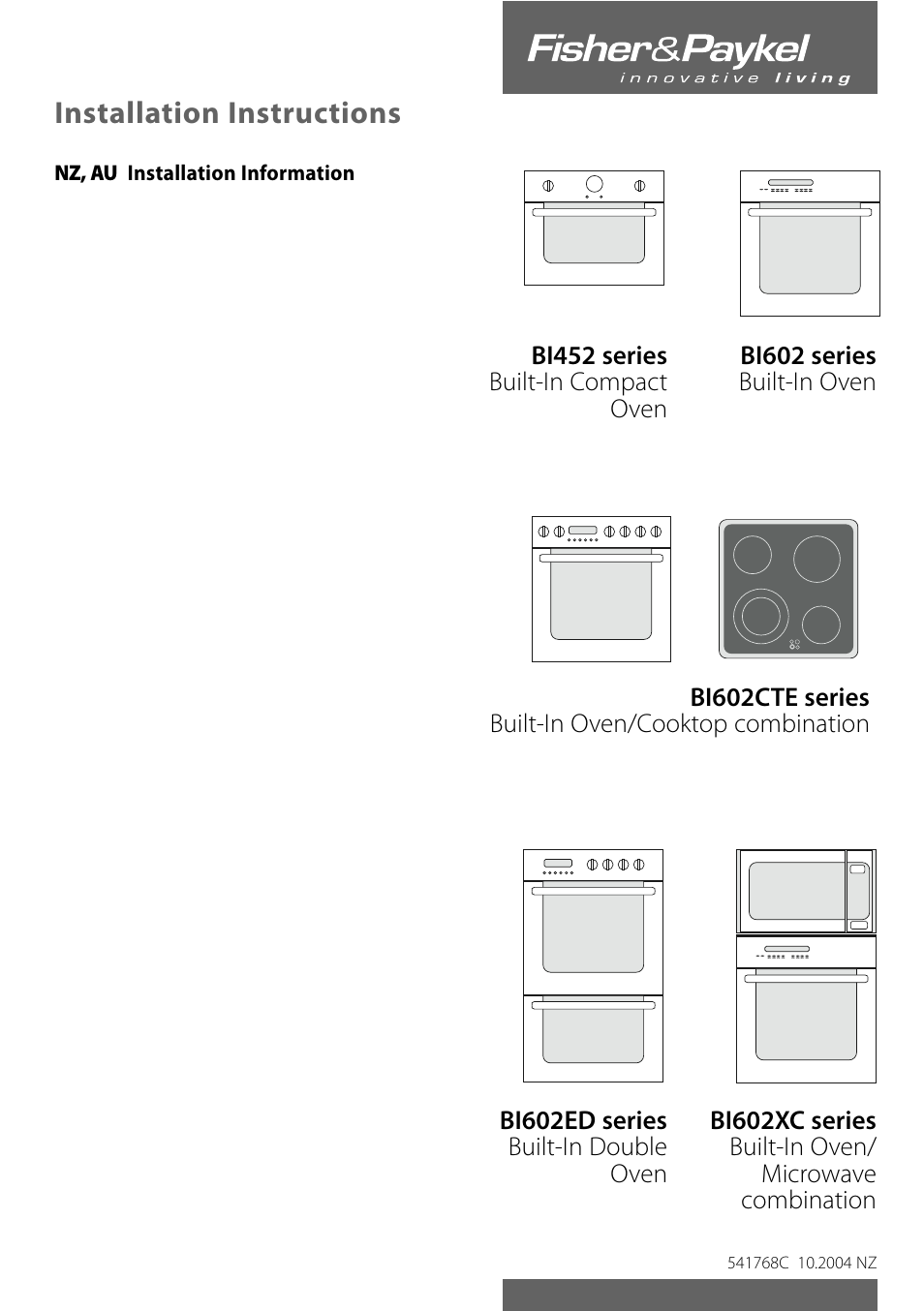 fisher paykel nz user manual 8 pages also for au bi602 au rh manualsdir com