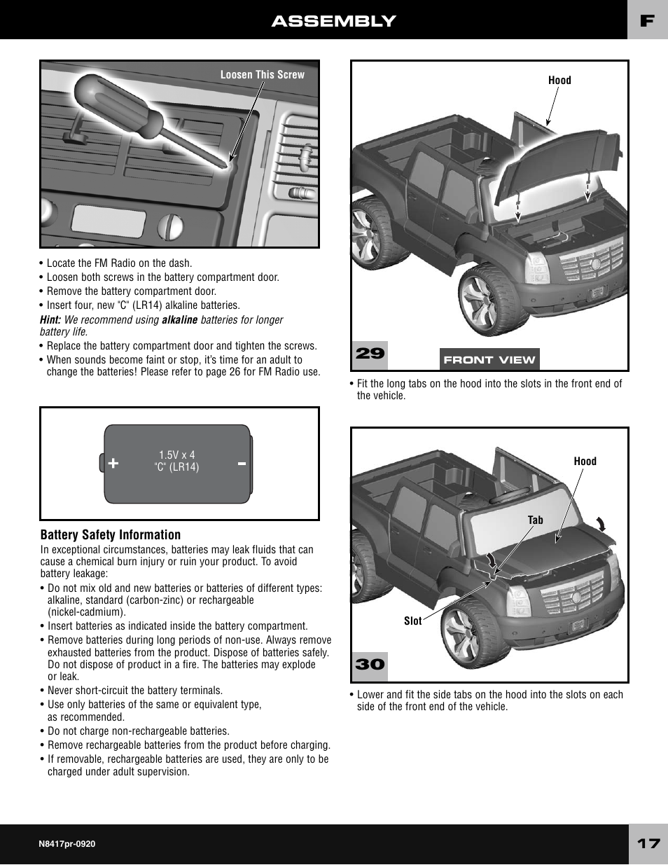 Modified Power Wheels Manual Guide