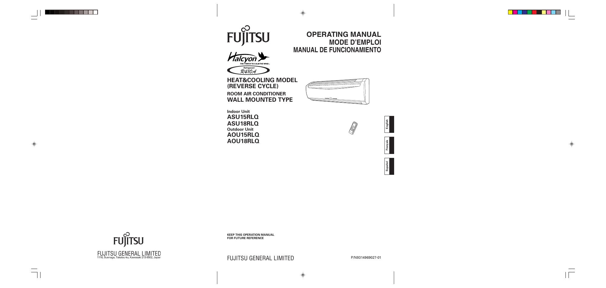 fujitsu aou15rlq user manual 20 pages also for asu15rlq rh manualsdir com fujitsu asu15rlq service manual