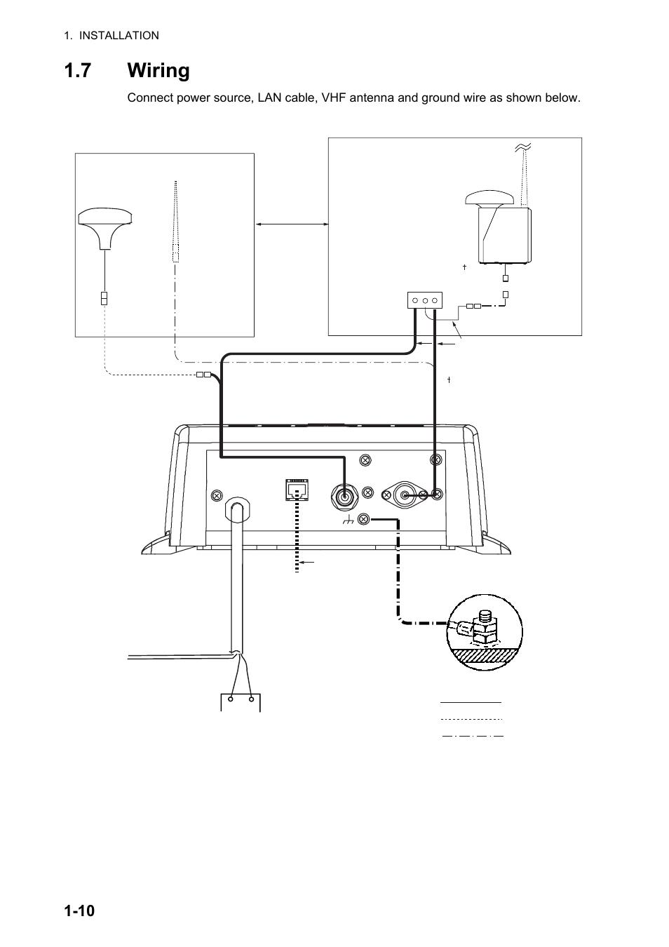 7 wiring, 7 wiring -10   Furuno AIS Transponder FA-50 User ... on