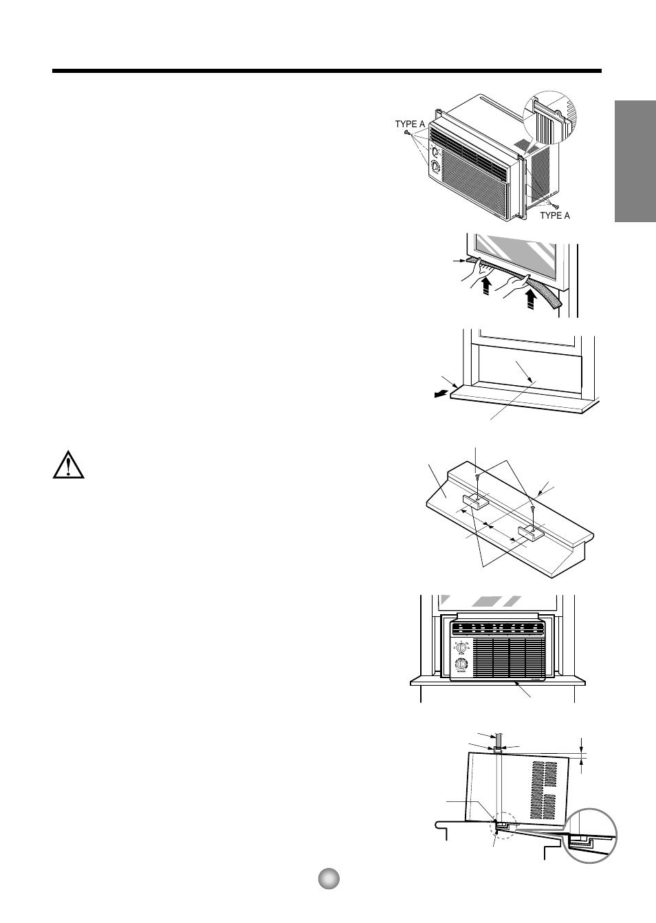 Friedrich Window Air Conditioner Manual Unit Wiring Diagram Installation Instructions English A Before B Begin Caution