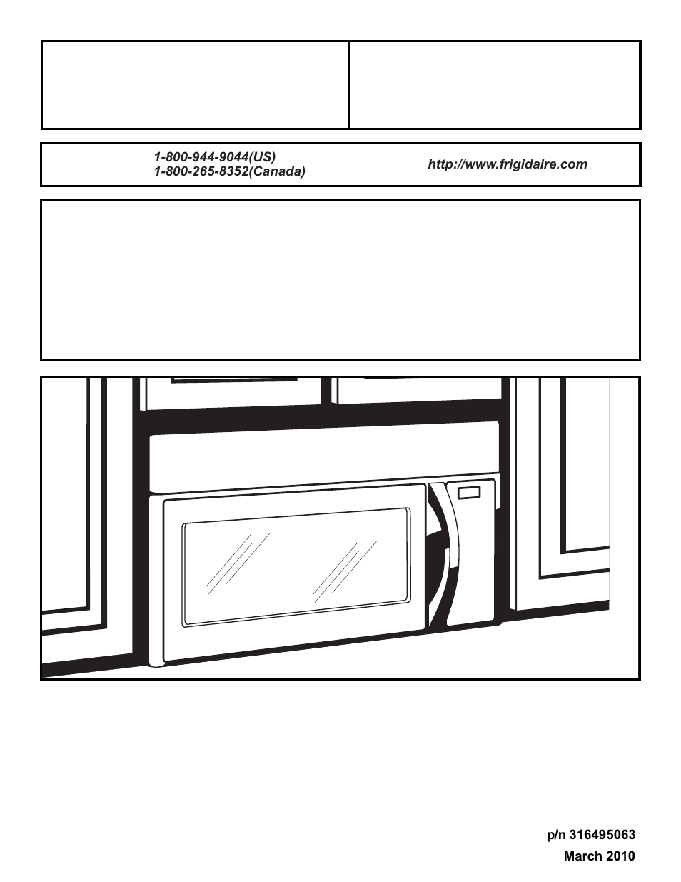Frigidaire 316495063 User Manual 24 Pages