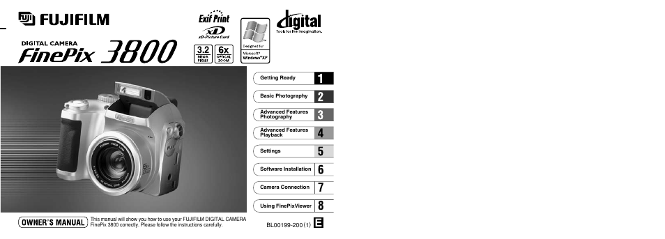 fujifilm finepix 3800 user manual 69 pages rh manualsdir com Manual for Fuji Camera Fuji FinePix 16MP Digital Camera