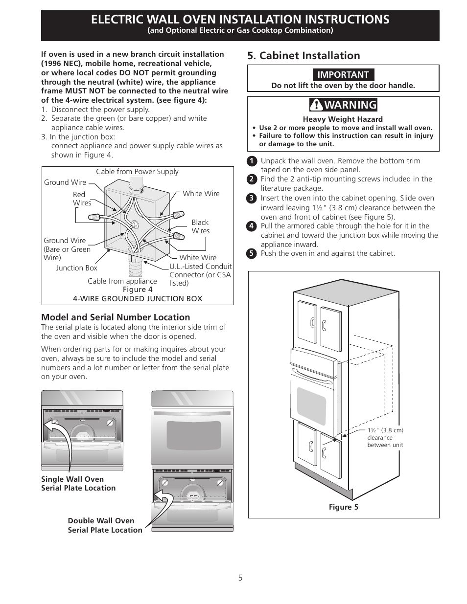 Outdoor Oven Cabinet Kit Manual Guide