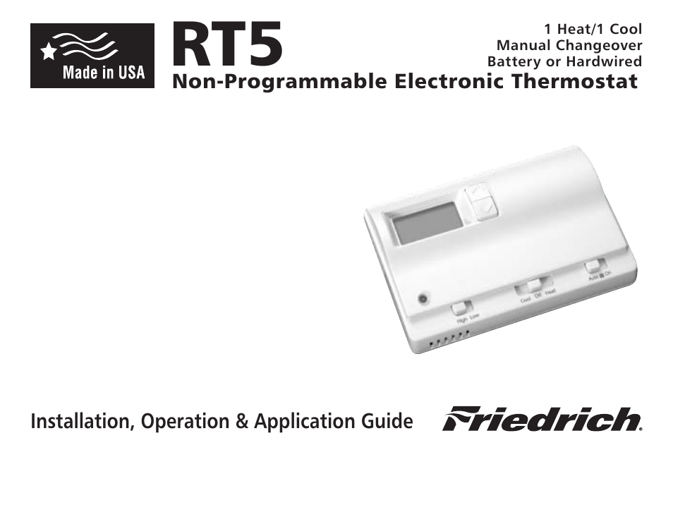 friedrich rt5 user manual 14 pages rh manualsdir com Friedrich PTAC Model Pde09k35d-C Friedrich PTAC Parts