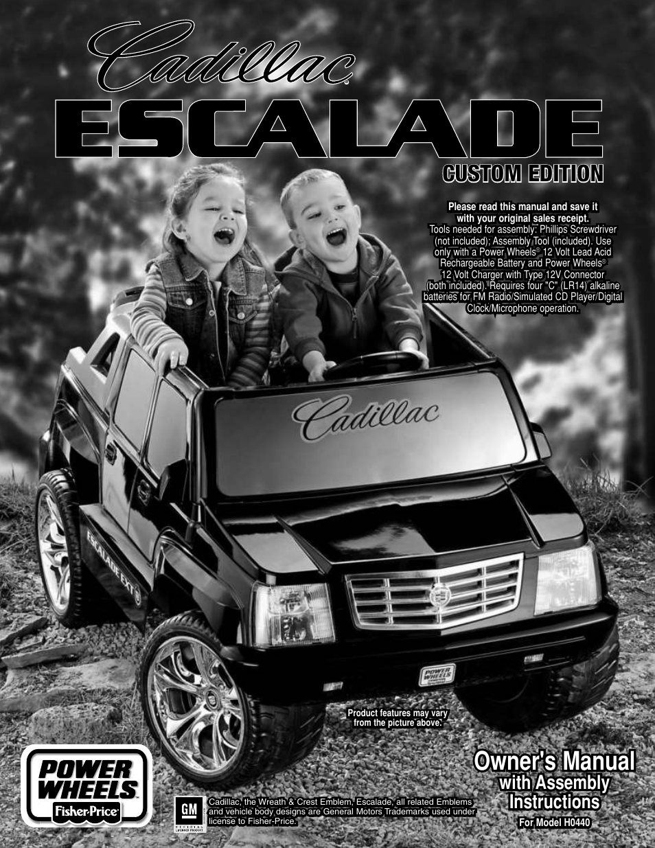 fisher price power wheels h0440 user manual 36 pages also for rh manualsdir com Custom Power Wheels Escalade Power Wheels Escalade Hybrid