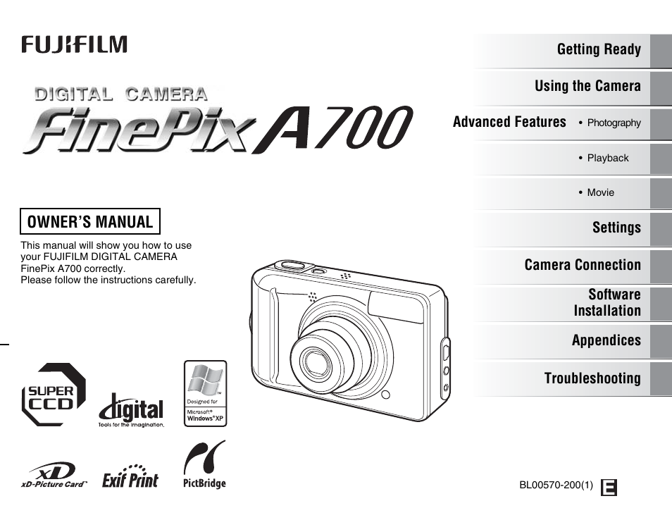 fujifilm finepix a700 user manual 132 pages rh manualsdir com Fujifilm FinePix S1 Fujifilm FinePix A-Series