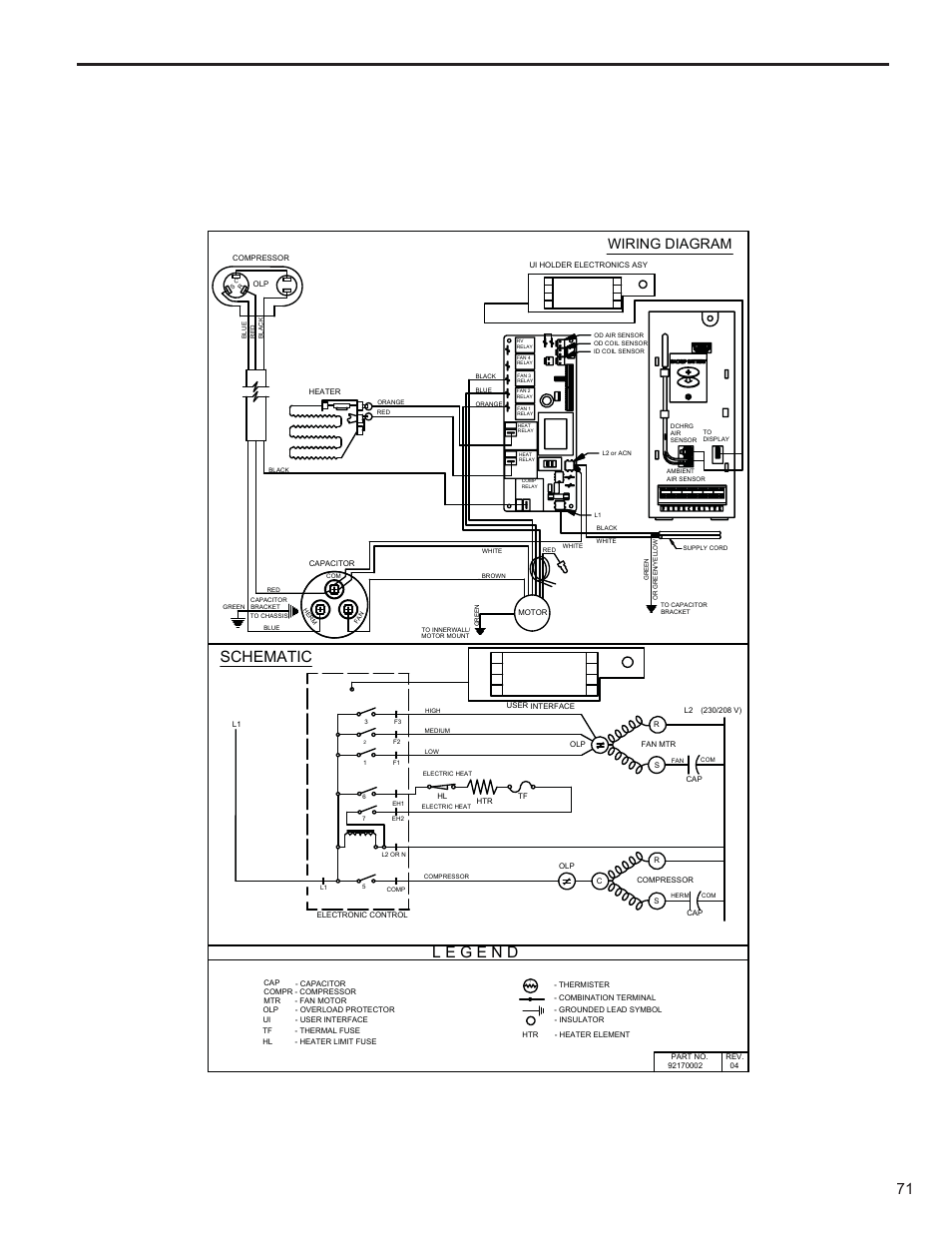 schematic wiring diagram friedrich kuhl r 410a user manual page rh manualsdir com Lennox XC21 Wiring-Diagram Trane Heat Pump Wiring Diagram