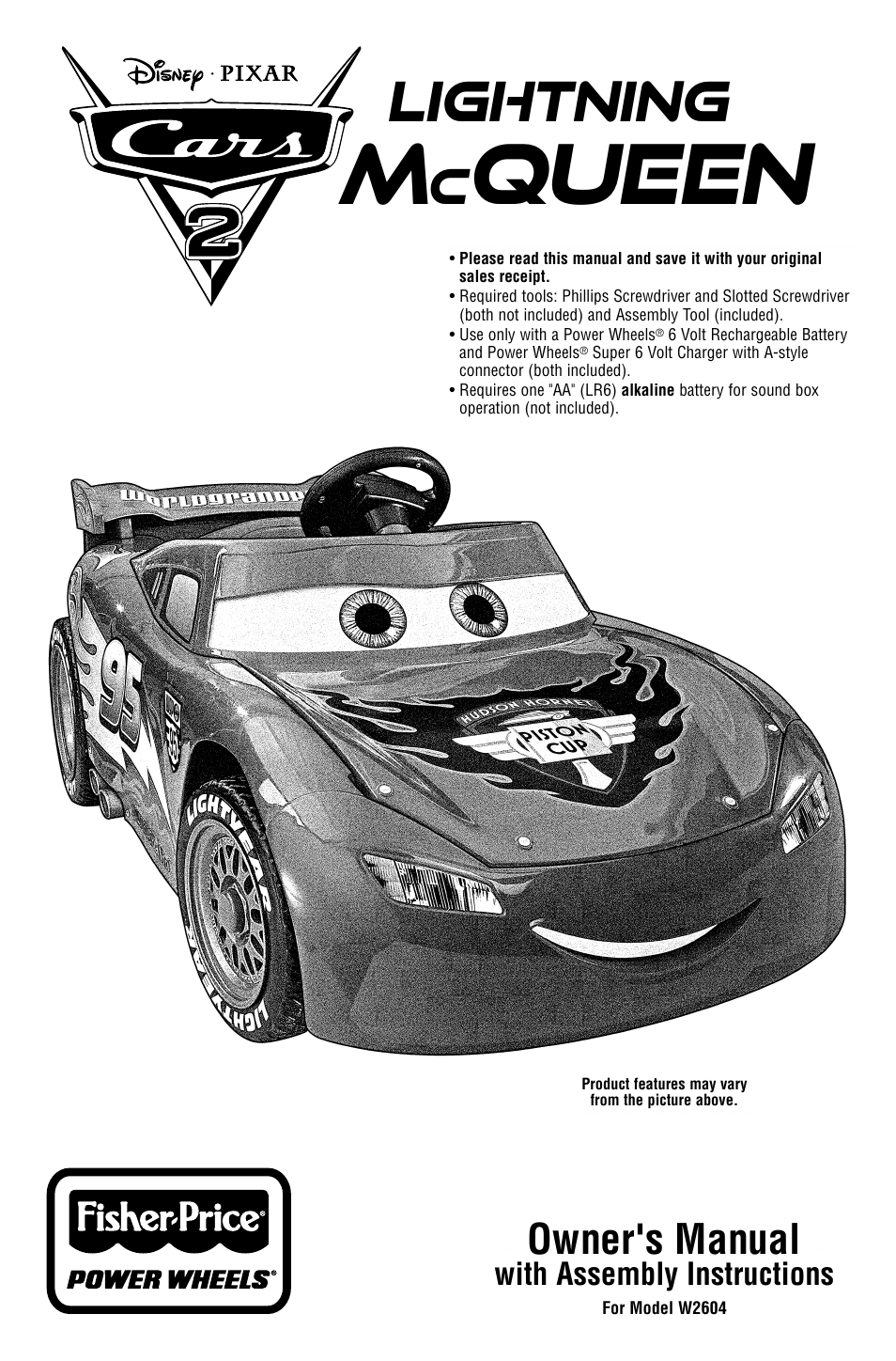 Fisher-price power wheels h4805 manuals.