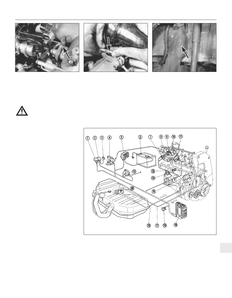 Part d: bosch mono-jetronic fuel injection system | FIAT Uno 45 User Manual  | Page 198 / 303