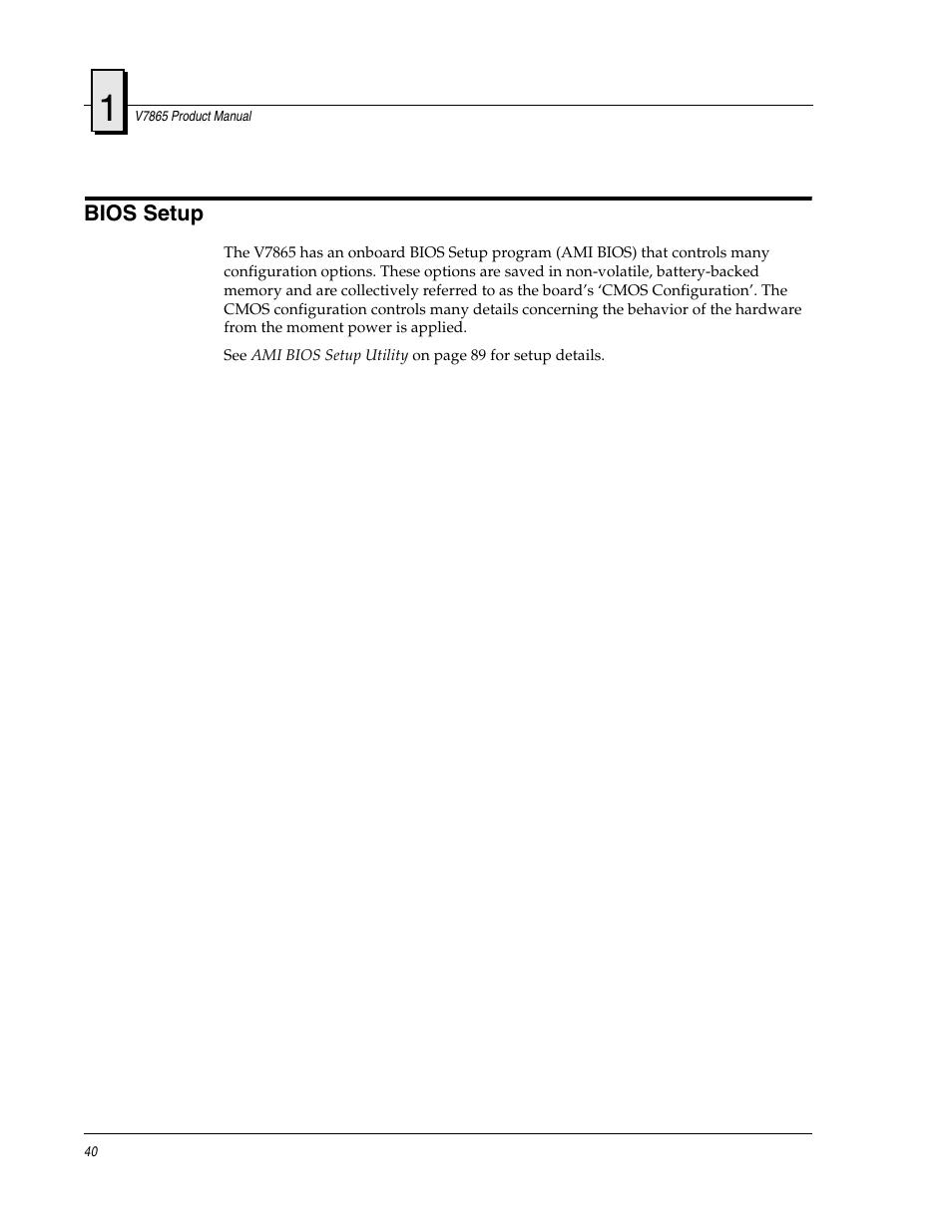 Bios setup | FANUC Robotics America V7865* User Manual | Page 40 / 103