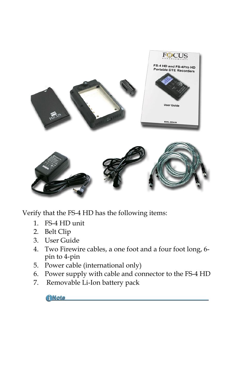 Unpacking Focus Enhancements Focus Firestore Fs 4 Pro User Manual