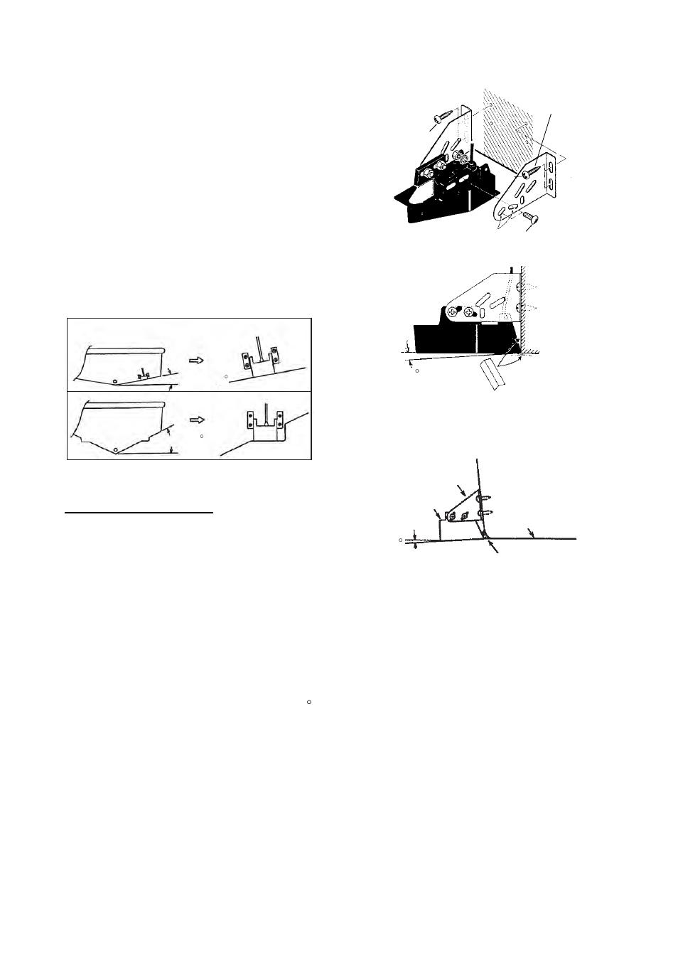 3 transom mount transducer, 4 inside-hull transducer