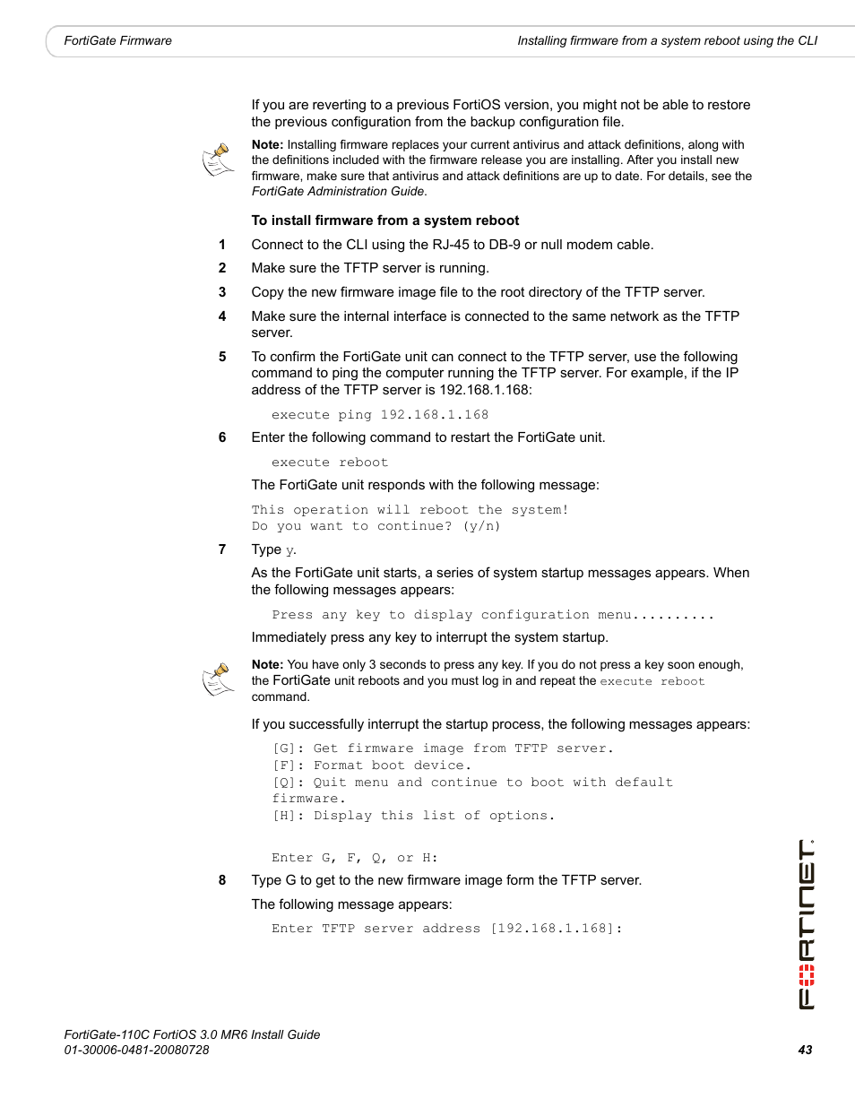 Fortinet FortiGate 110C User Manual | Page 45 / 56