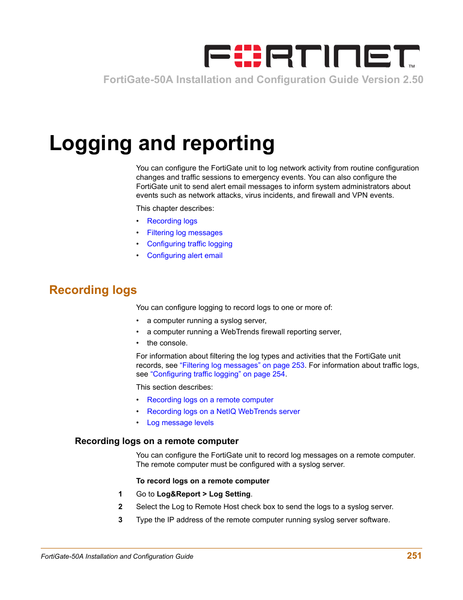 fortinet fortigate 50a installation and configuration manual 101364 rh neutralizeall info