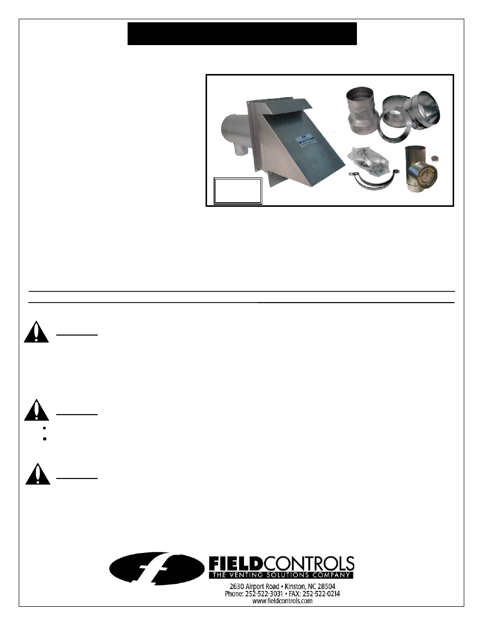Vent System Field Controls Field Direct Vent System Fdvs User Manual 4 Pages