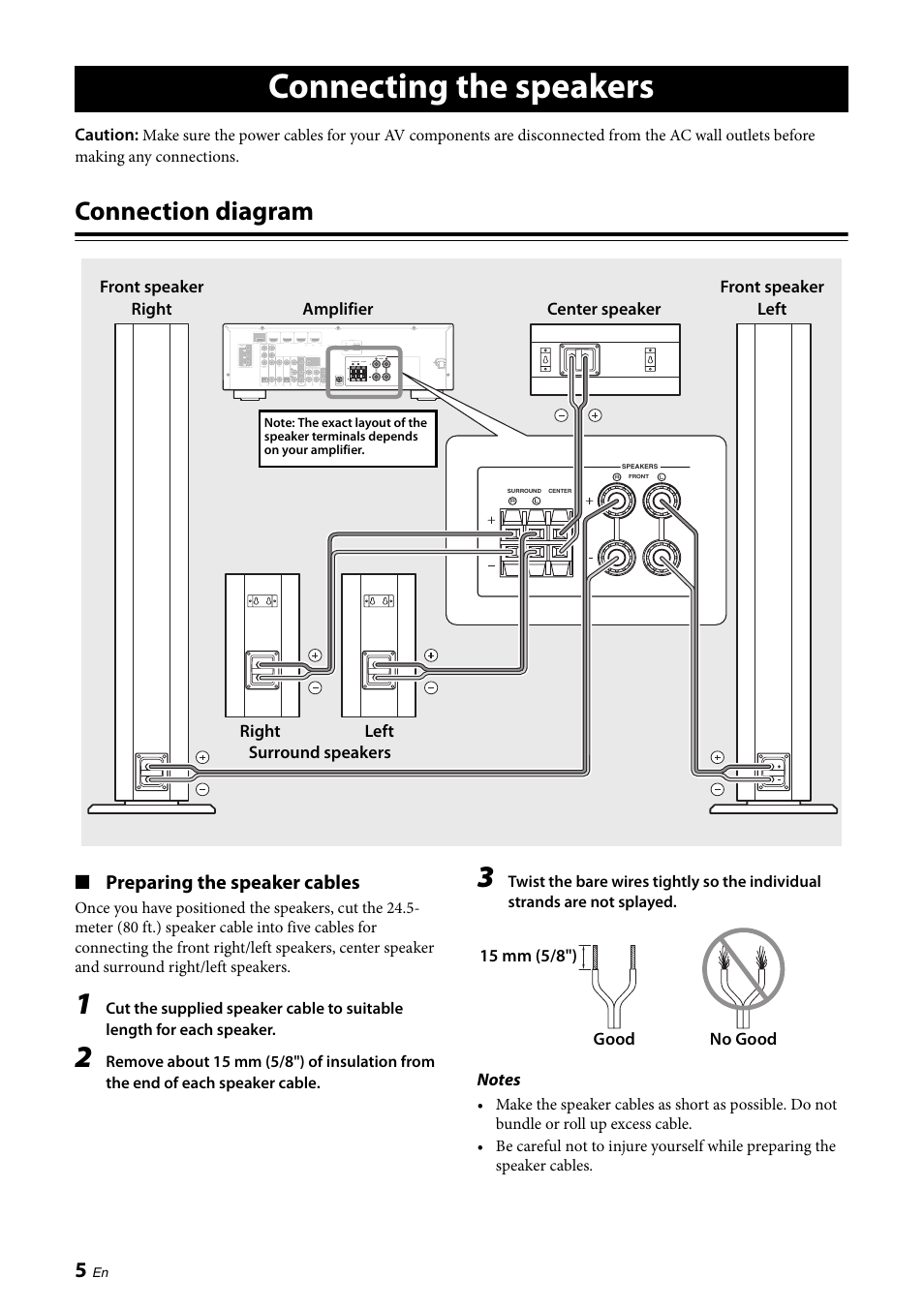 Diagram Amp Connected To Speakers Of 6 Electrical Wiring Diagrams 4 Channel Speaker Ricerche Correlate A Connecting The Connection Preparing Toyota Tundra