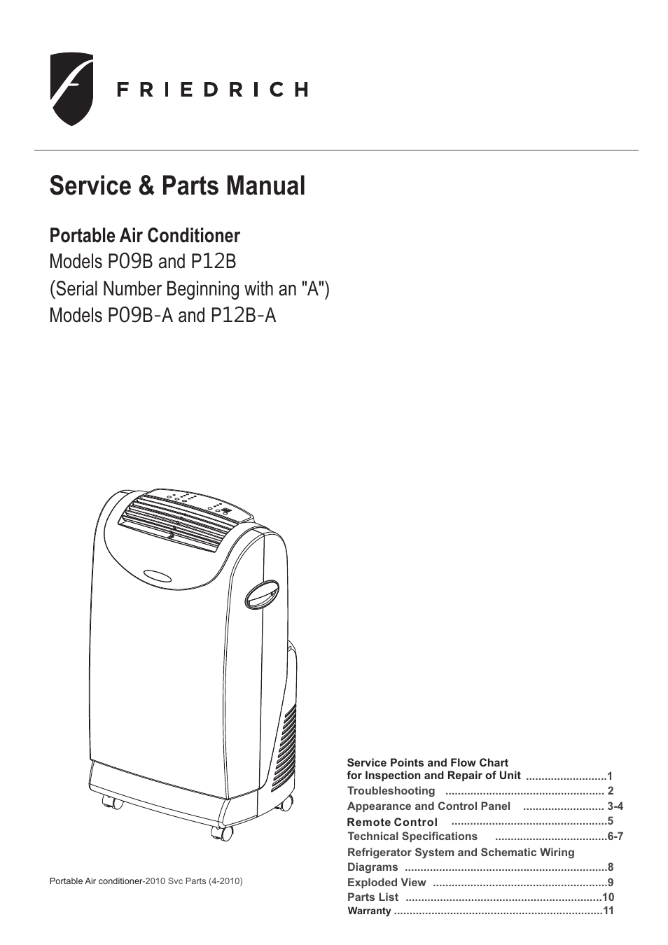 Friedrich Air Conditioners Wiring Diagram Conditioner Control P09b User Manual 12 Pages Also For P12bfriedrich 18