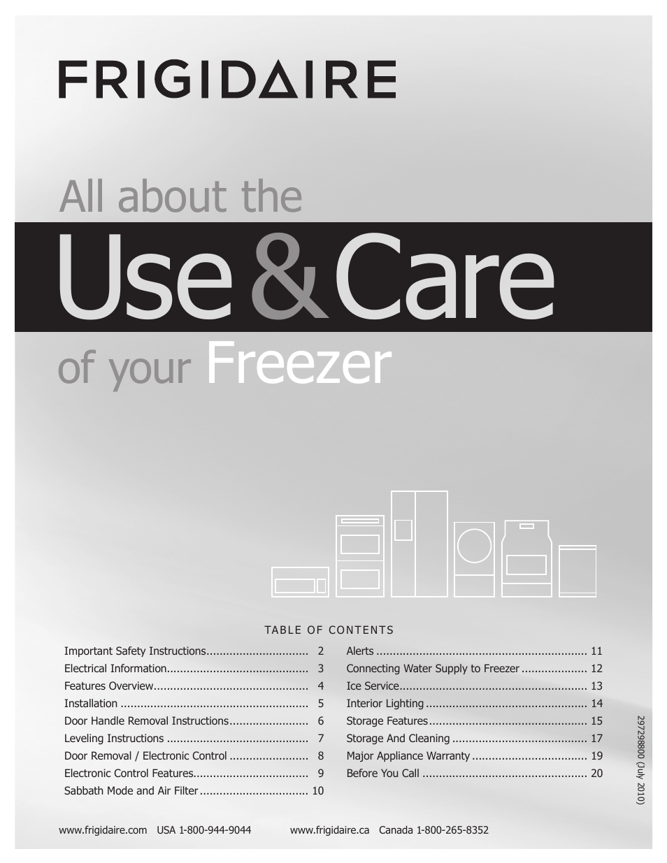 frigidaire 297298800 user manual 22 pages rh manualsdir com Frigidaire Professional Frigidaire Manuals