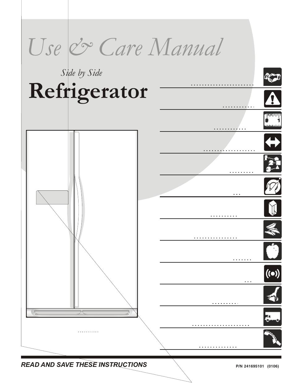 Frigidaire Refrigerator Espaol 27 User Manual 26 Pages