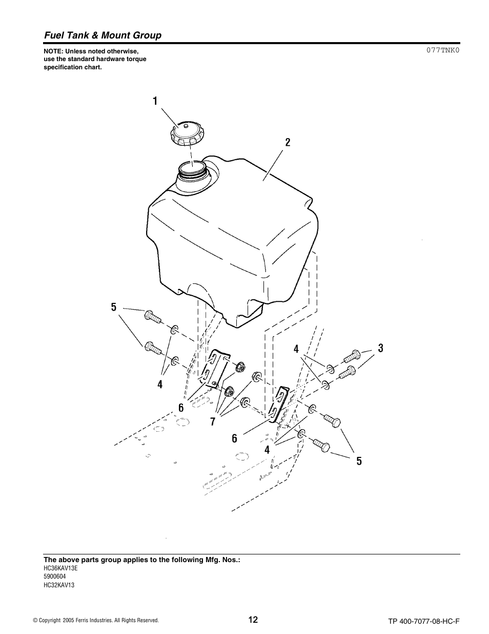 fuel tank mount group ferris industries hc36kav13e user manual Fuel Tank Color Codes fuel tank mount group ferris industries hc36kav13e user manual page 12 54