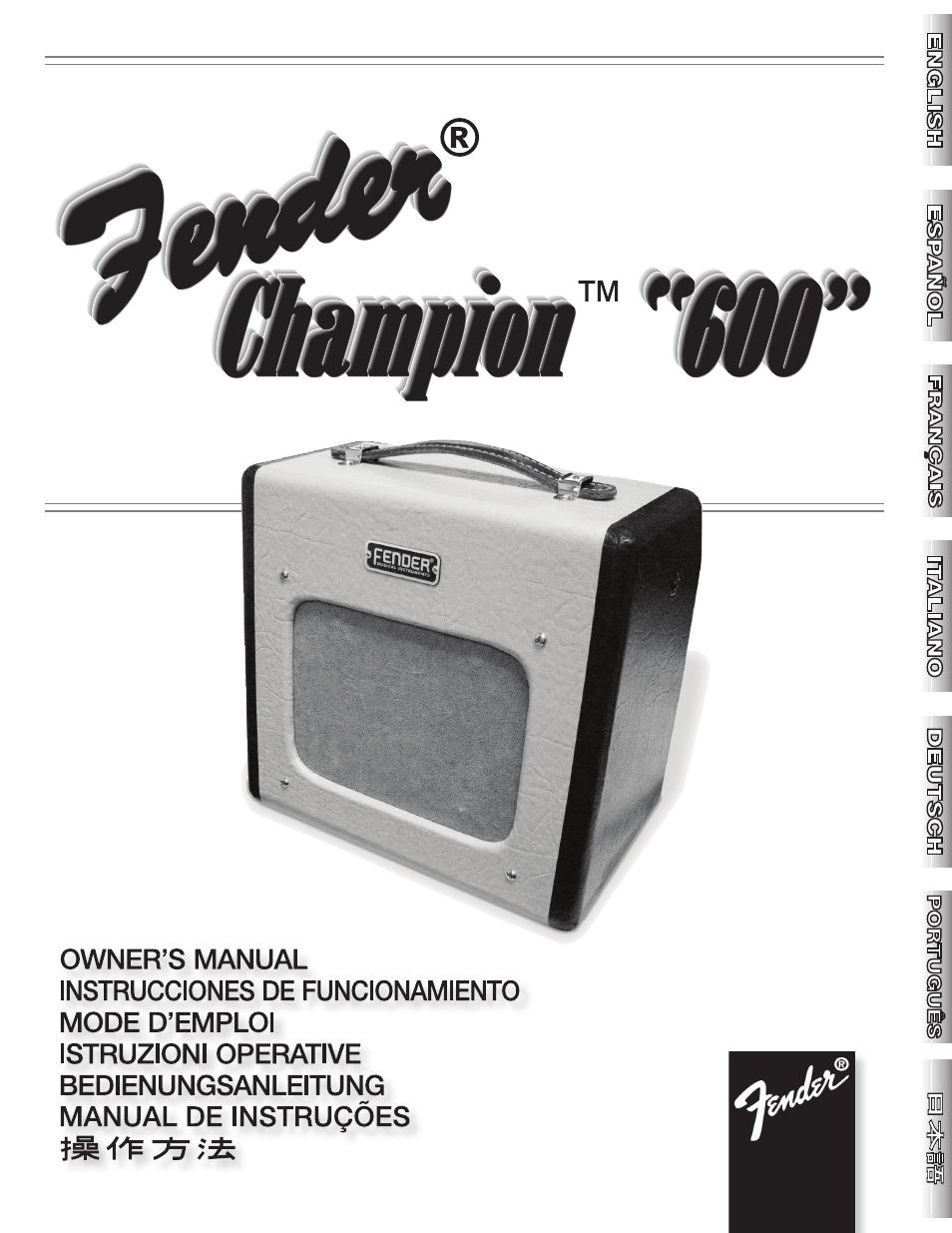 goedkoop outlet winkel verkoop sportschoenen Pdf Download   Fender Champion 600 User Manual (20 pages)