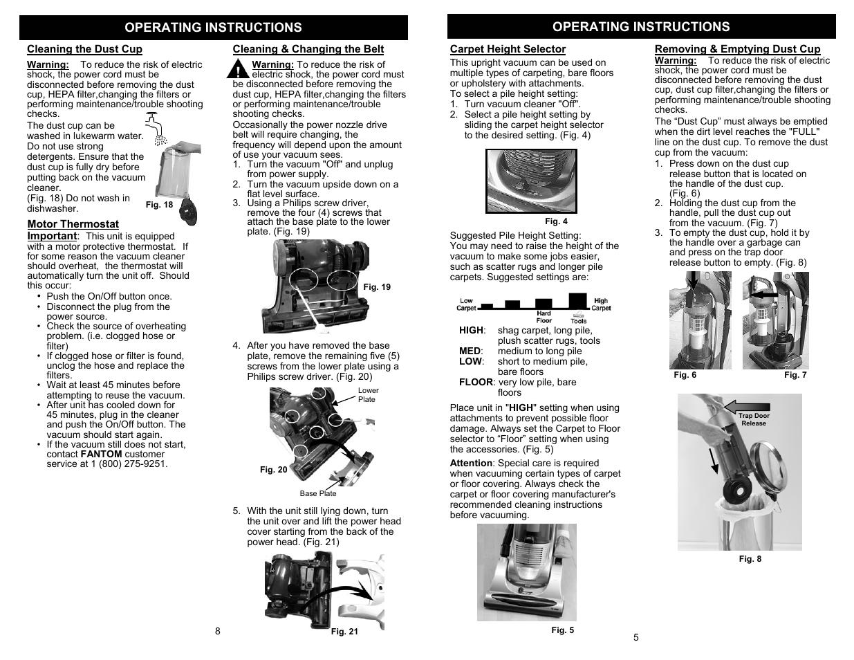operating instructions fantom vacuum fm718 user manual page 7 rh manualsdir com Operators Manual User Manual