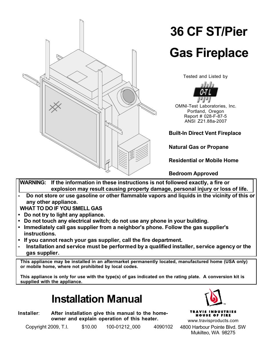 Fireplacextrordinair Revolution 36cf User Manual 48 Pages