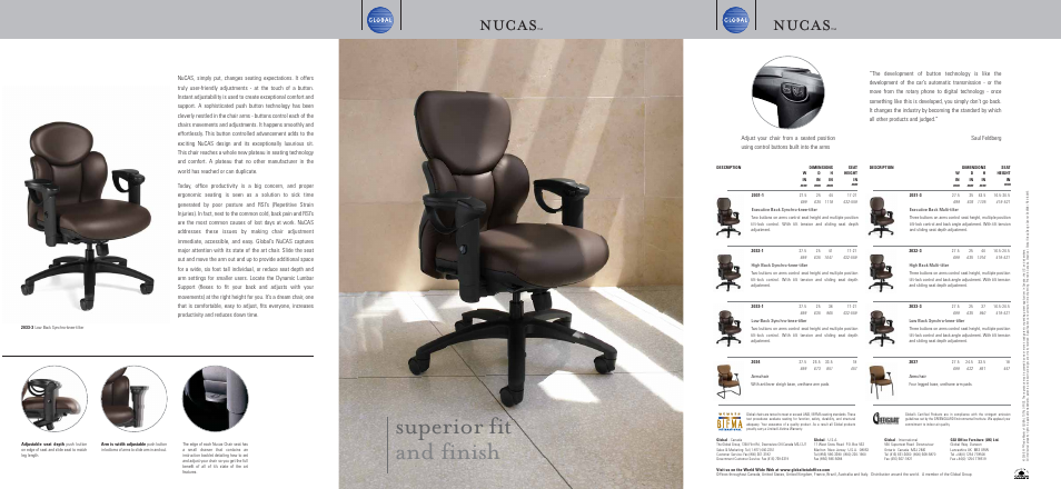 Global Upholstery Co. NuCAS 2033 3 User Manual | 4 Pages | Also For: NuCAS  2032 3, NuCAS 2031 3